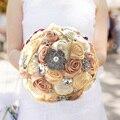2017 Новые Потрясающие Свадебные цветы Красочные Невесты Свадебные Букеты искусственные Розы Свадебный Букет