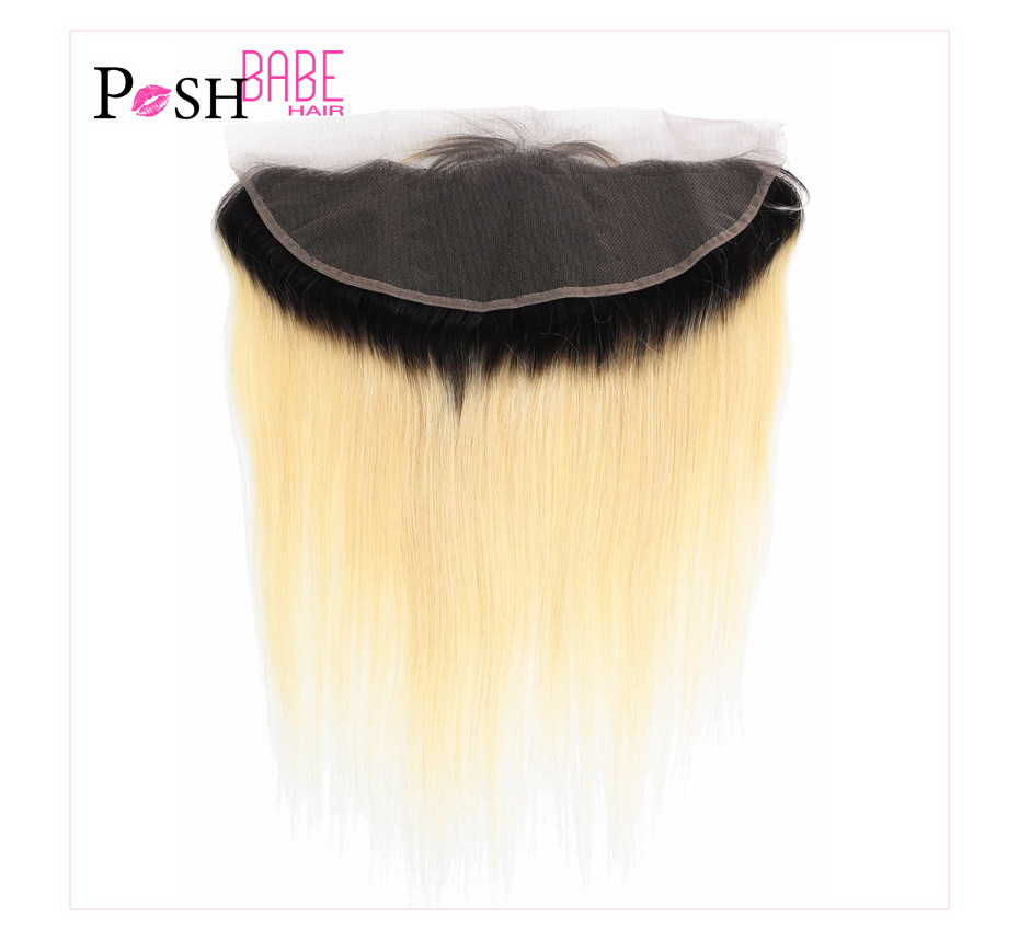 613 Blonde Colored Human Hair Swiss Frontal Closure (17)