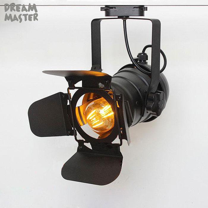 ferroviário luz, preto faixa lâmpada com barndoor, loja de roupas iluminação