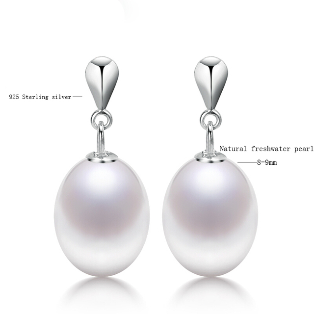 BaroqueOnly New Arrival Authentic 100% 925 Sterling Silver Natural Drop pearl  Earrings For Women Luxury Jewelry Gift EAL