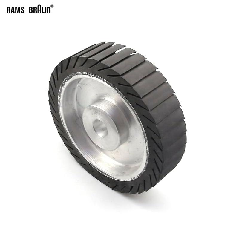 "200*50*25 Centrifugal Rubber Wheel 8"" Expander Wheel For Sanding Belt On Grinder"
