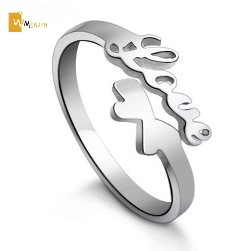 New design LOVE finger rings for Women anillos mujer 925 silver ...
