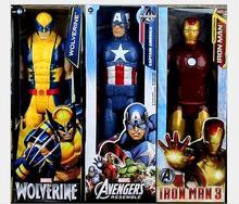 8set New 12 30CM Super Hero Spiderman Superman Captain X men PVC Action Figures Collectible Toy