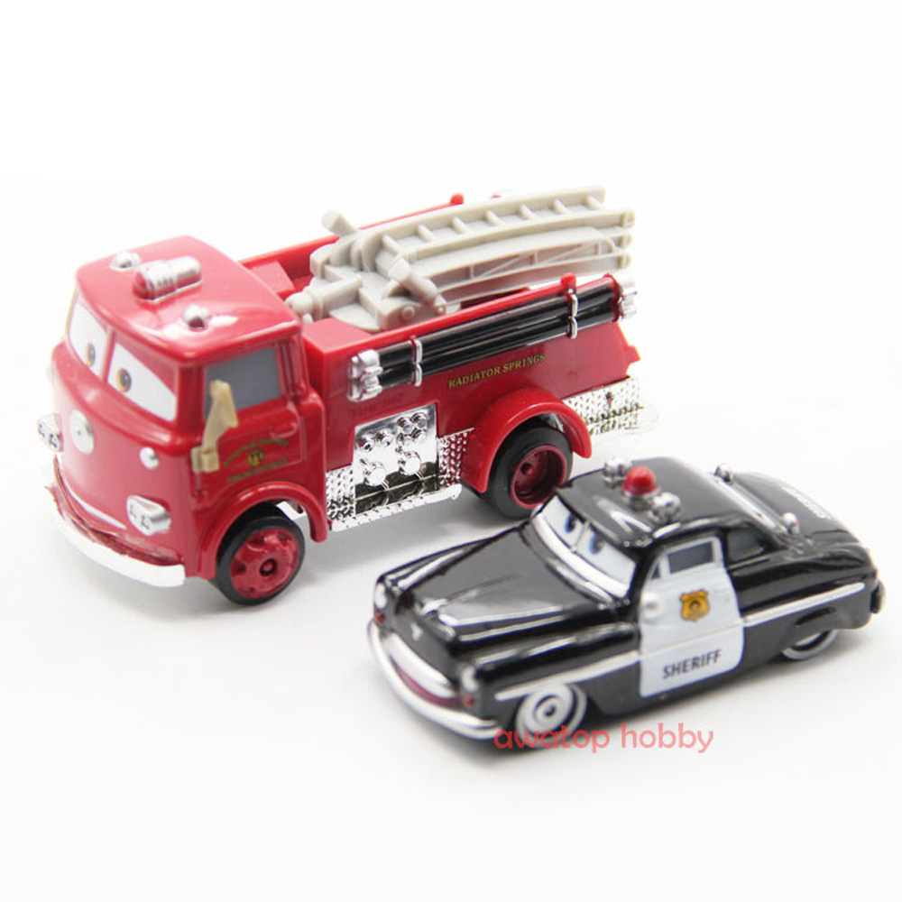 Шериф детективы Красная пожарная машина Diecast Автомобили история из металла классические детские мальчик автомобиль игрушки 1:55 Свободные Н... ...