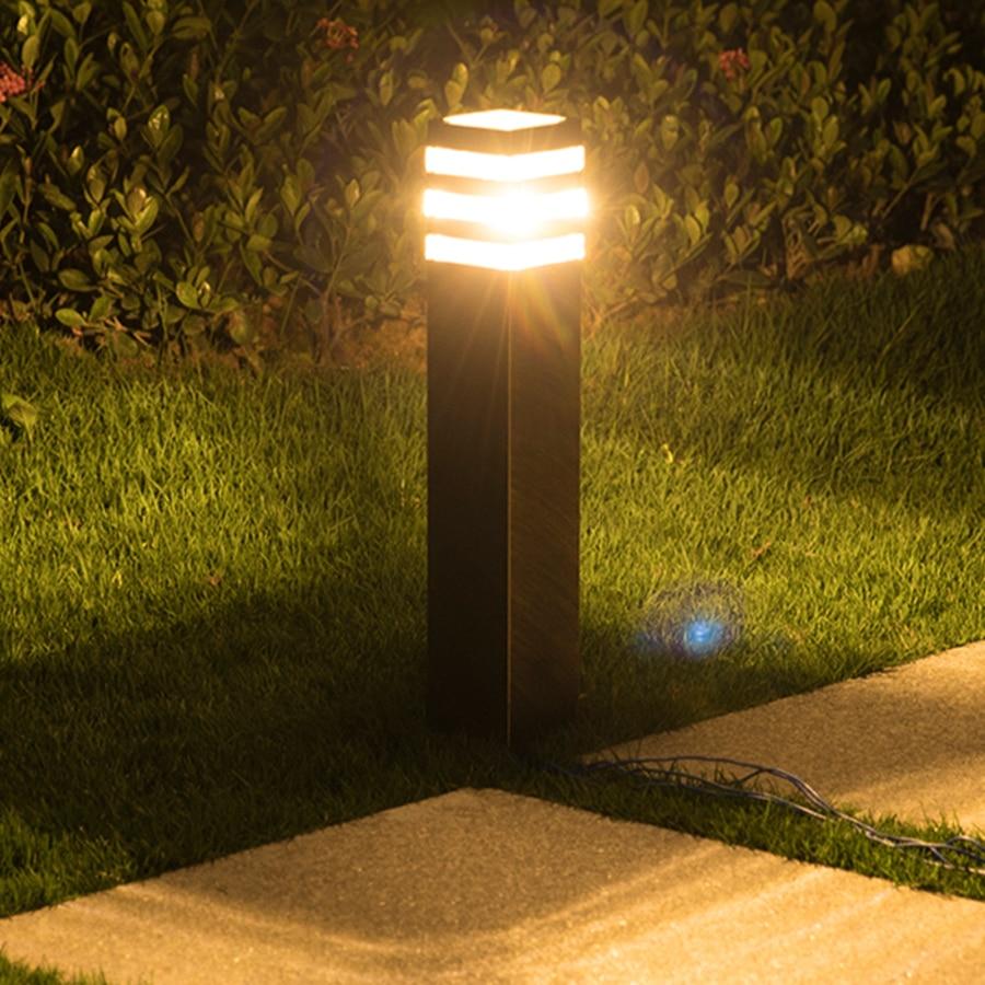 Thrisdar E27 Waterproof Garden Lawn Light Villa Stand Post Lawn Bollard Lamp Outdoor Landscape Pathway Patio Pillar Lawn Light LED Lawn Lamps     - title=