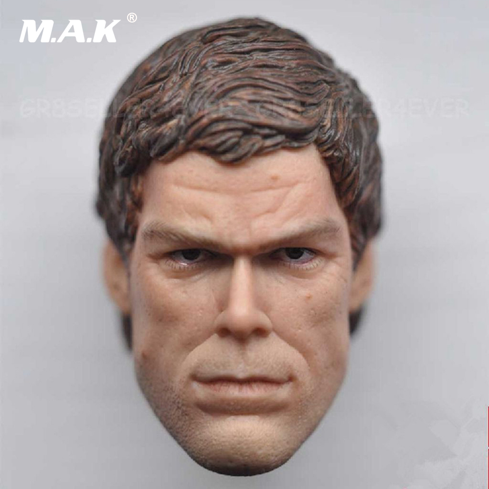 1/6 Scale Male Head Sculpt Dexter the Game Michael C. Hall Type Fit For 12'' Figures mak custom 1 6 scale hugh jackman head sculpt wolverine male headplay model fit 12kumik body figures