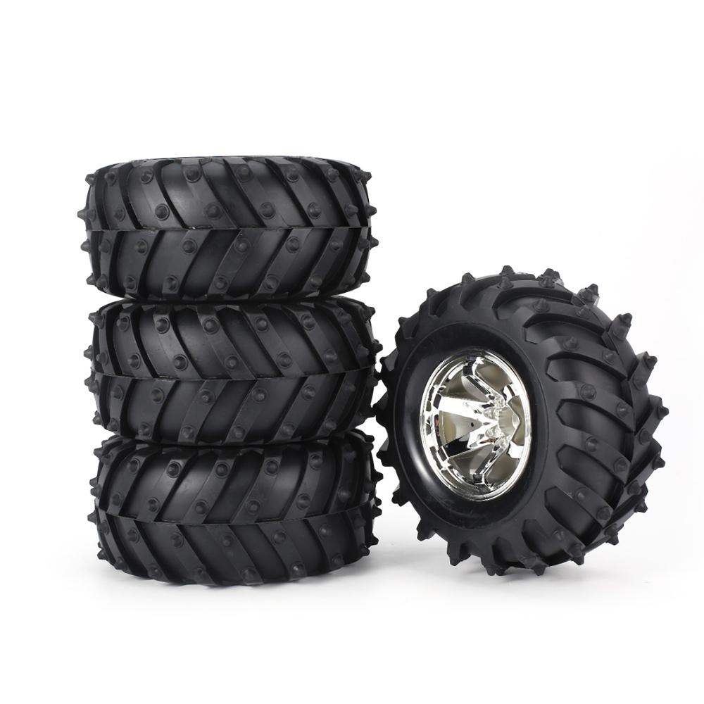 SURPASS HOBBY 4Pcs 3002 Tire Rim Rubber Tyre 125mm PlasticHub for RC 1 10 Car BigfootMonster Truck HSP HPI in Parts Accessories from Toys Hobbies