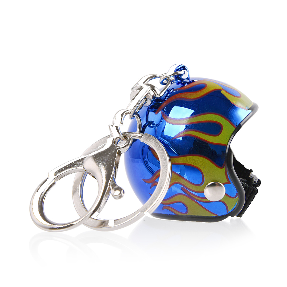 2019 New Arrival Keychain Key Ring Keyring Car Motorcycle Bicycle Fire Flame Blaze Helmet Key China Pendants Thanksgiving Gift