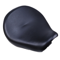 Black PU Leather Motorcycle Saddle Seat Front Seat Selle Moto Cafe Racer Seat Coushion Bobber Seat For Honda VT750/400 2004 2013
