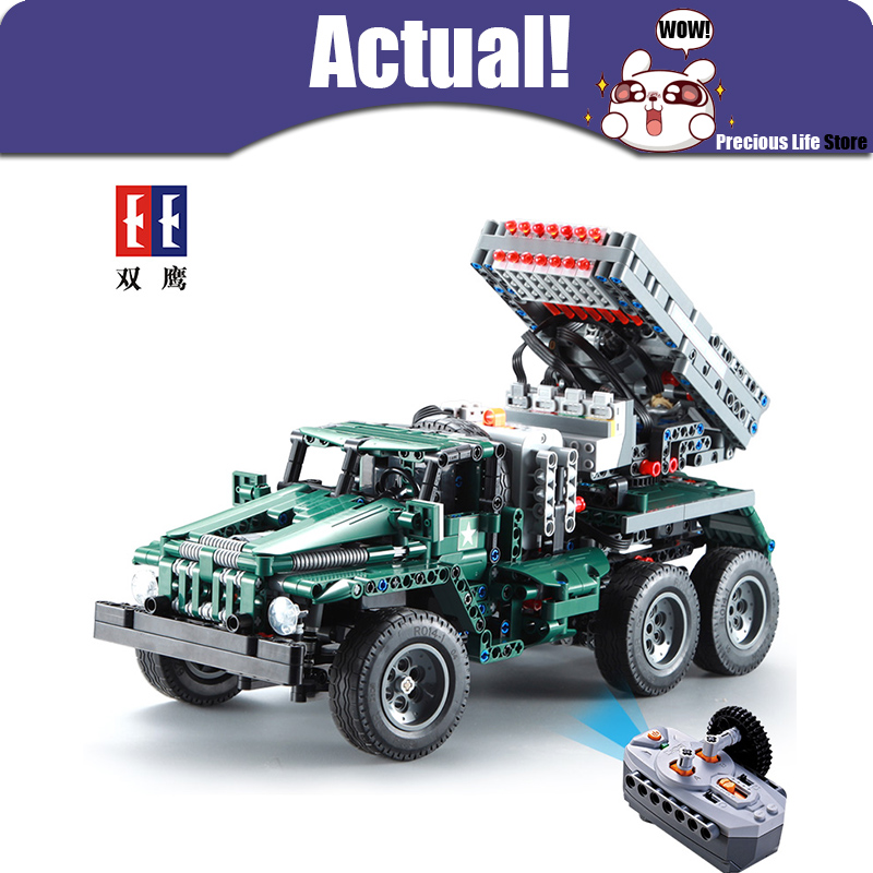 Remote Control Rocket Launcher Truck 2in1 Military 1369pcs with Motor 1:20 Scale Model Building Blocks Bricks Toys for Boys Kids wange educational learning toys kids diy set toys cars plastic model kits building bricks blocks for boys 4 in 1 with motor