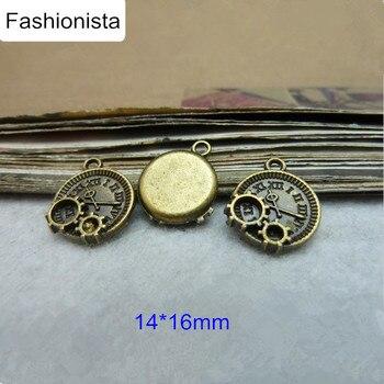 Amuletos de bronce antiguo Fashionista/engranaje de plata, Estilo Steampunk, 14*16mm, suministros de fabricación de joyería, Ideas de regalo 90 UDS-Envío gratis