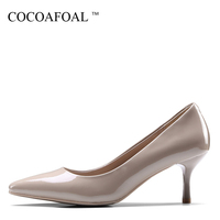 COCOAFOAL Woman Wine Red Pumps Fashion Apricot Pointed Toe Sexy High Heels Shoes Party Shallow Genuine Leather Wedding Pump 2018