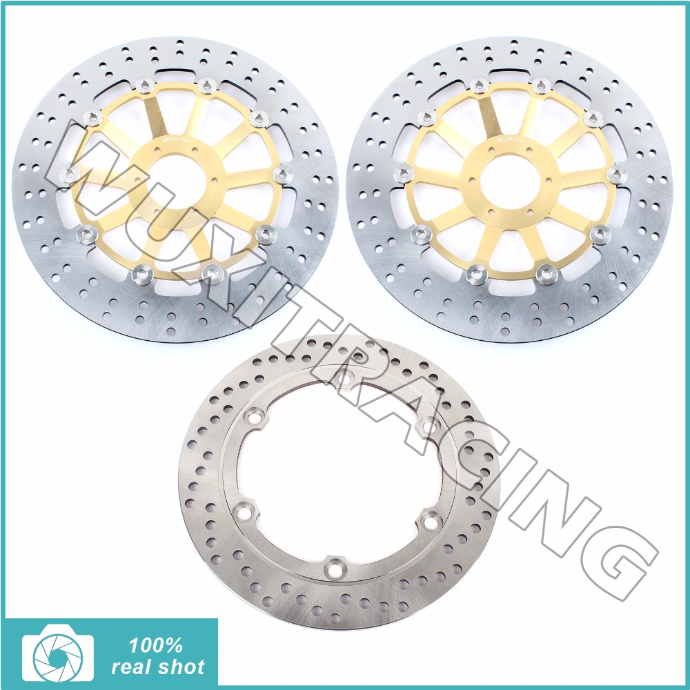 99 00 01 02 2003 2004 2005 2006 2007 2008 Full Set Front Rear Brake Discs Rotors for HONDA CBR1100 CBR 1100 XX Super Blackbird 2001 2002 2003 2004 2005 2007 full set motorcycle new front rear brake discs rotors for honda cbr600f cbr 600 f supersport f4