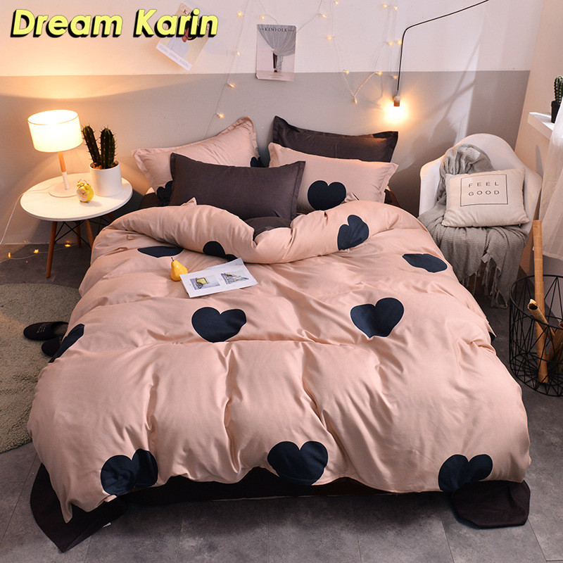 Bed Linens Pillowcases Duvet-Cover-Sets King-Size Modern Double-Queen 2/3-Bedding-Set