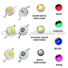 100pcs 1W 3W LED High Power LEDs Cold White Natural Warm RGB Red Green Blue Yellow Light Source