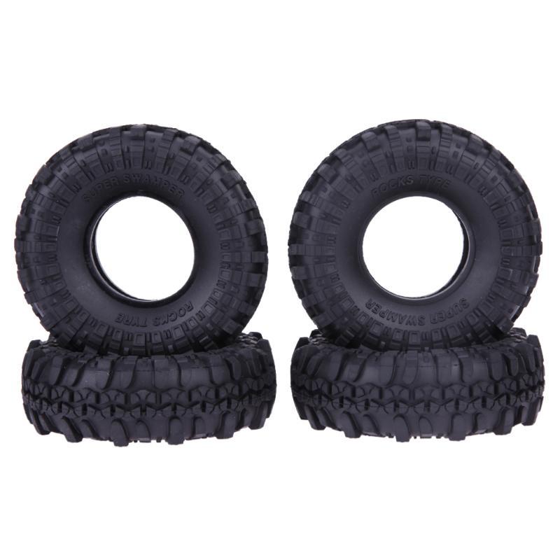 где купить 4pcs/set Rubber Tyre RC Crawler Car Wheel Tires for Off-road Vehicle SCX10 D90 High Quality Parts & Accs по лучшей цене