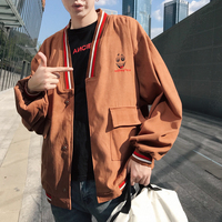 2018 Recommend new listing casual Korean version Coat Single Row Buckle Smiling Loose Neutral The Fashion Jacket size M 2XL