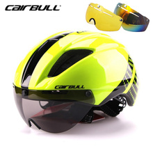 CAIRBULL 3Lens Goggle Cycling Helmet Men Integrally-molded Mountain Road MTB Bicycle Bike Helmet 57-61cm Casco Ciclismo