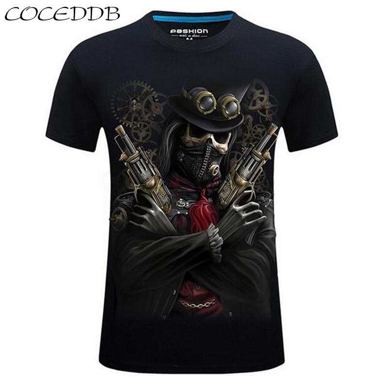 2016 summer Men's brand clothing O-Neck short sleeve animal T-shirt gas monkey/lion 3D Digital Printed T shirt Homme large size