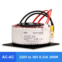 300W Ring Transformer AC220V To 36V AC Pure Copper Ring Power Transformer For Power Supply Amplifier