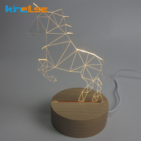 Unicorn Lamp 3D LED Creative Gifts Bedroom Study Atmosphere Night Light For Children Christmas Gift Night