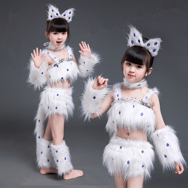 White Cat Cosplay For Girls Sexy Cat Girl Cosplay Costumes Fox Girl Cosplay Animal Dance Costumes