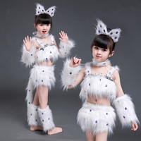 white cat cosplay for girls sexy cat girl cosplay costumes fox girl cosplay animal dance costumes for children halloween cosplay
