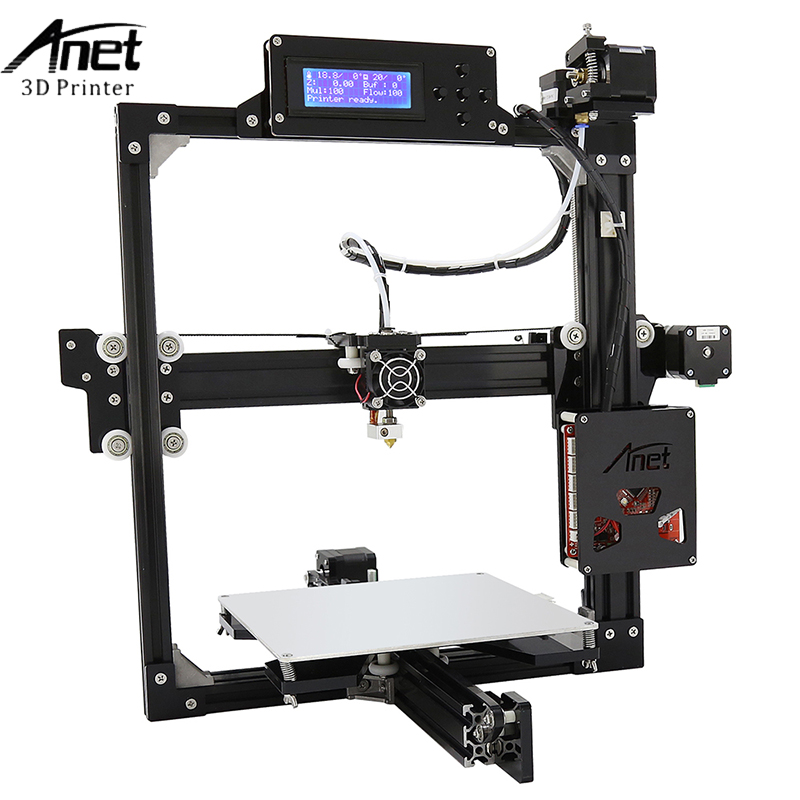 Anet A2 3d Printer Large Printing Size 220*270*220mm Full Metal Frame 3D Printer Kit DIY Easy Assemble With Free 10m Filaments anet a2 metal lcd2004 220 220 220 220 270 220mm option 3d printer diy prusa i3 3d printer kit with free 10m filaments