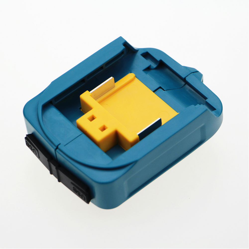 2PCS New DEAADP05 USB Power charger adapter converter and Devices Charger compatible for Makita 18V 14.4V Lithium-Ion battery