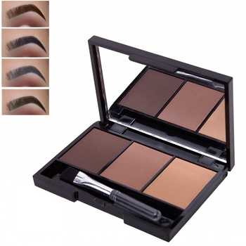3 Colors Eyebrow Powder Palette Waterproof Shade Eyebrow Enhancers