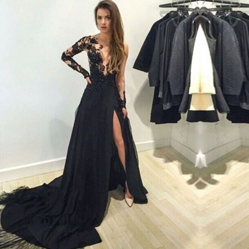 Online Buy Wholesale graduation dresses long black from China ...