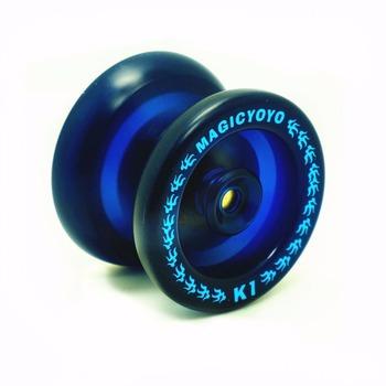 Gorąca sprzedaż Yoyo klasyczne zabawki dla dzieci profesjonalne magia jo jo Yoyo K1 Spin ze stopu aluminium ze stopu aluminium Metal Yoyo 8 Ball łożysko kk z sznurek do kręcenia tanie i dobre opinie aibaoga 110cm Unisex 4 38 mm Drum-shaped 8 lat 51 03 mm