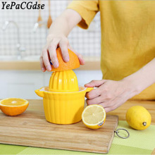 Mini plastic double head manual juicer 350ML multi-function orange juice lemon machine