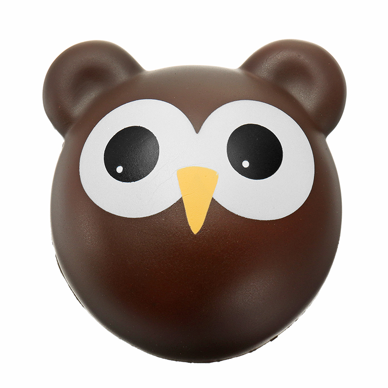 Owl Bun Black Slow Rising Toy Cute Animals Cartoon Collection Gift Deocoration Relief Stress Toy
