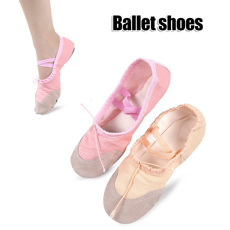 Ballet Dance Shoes Slipper Canvas Yoga Dance Shoes 22-35/36-44 Size Ballet Dance Shoes For Women Girls Kids XR-Hot