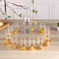 China 12 Zodiac Wine Glasses Chinese National Treasure Beer Mug Wine Decanter Set Drinkware Bar Tool Cups Creative Gifts