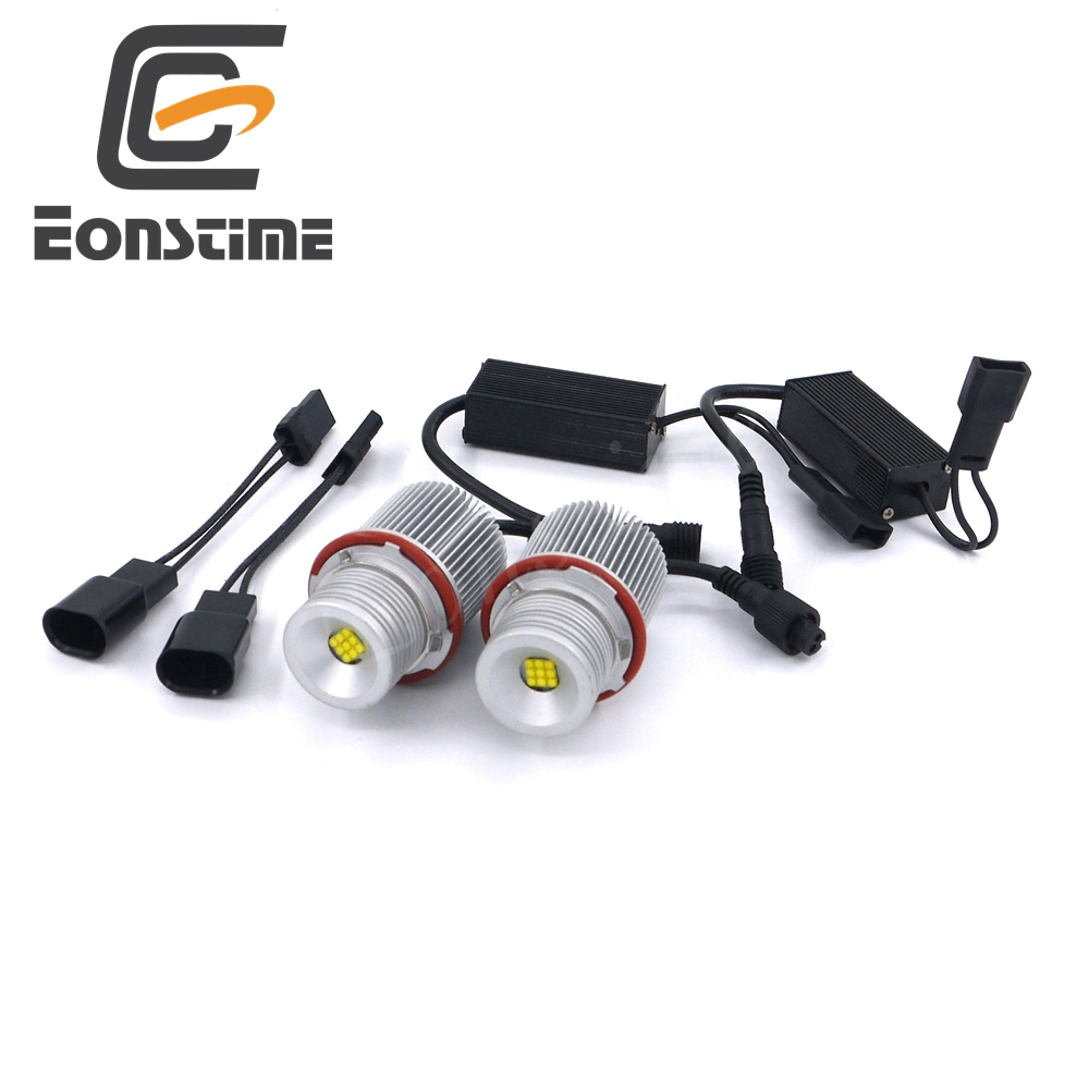 Eonstime Error Free 2X27W XBD 9LED Angel Eyes LED Marker Light Bulbs For BMW E39, E60,E61,E63,E83,X3,X5 E87 525i M5 525i E53 E66 new e39 rgbw ir remote control led marker angel eyes for bmw e87 e60 e61 e63 e64 e65 e66 e53 e83 x5 rgb color changing lighting