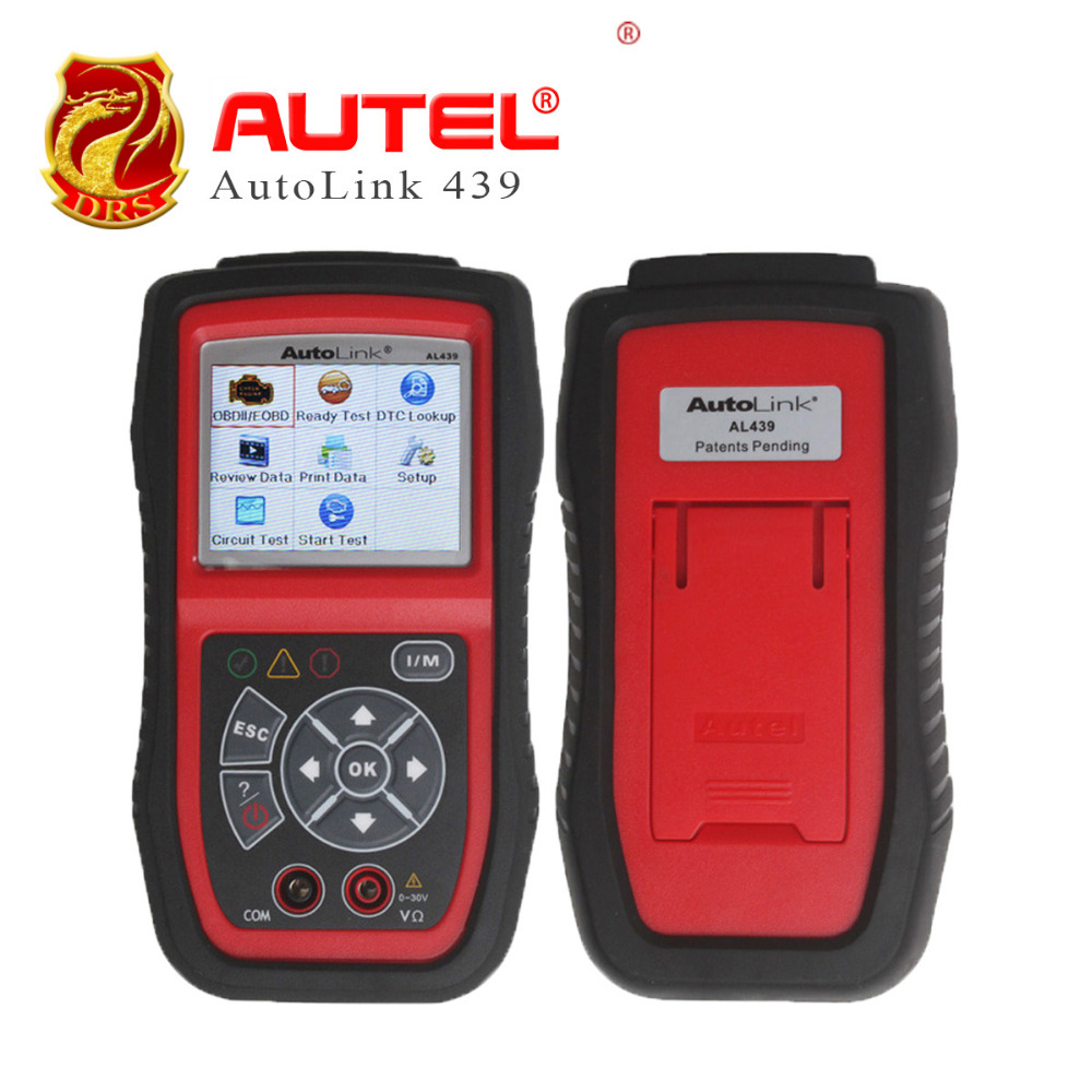 Autel AutoLink AL439 OBD2 EOBD CAN OBD II Code Reader Auto Diagnostic Scanner Electric Test Tools quicklynks t80 jobd obd2 eobd color display auto scanner t80 for japan cars wider vehicle coverage with can protocol support