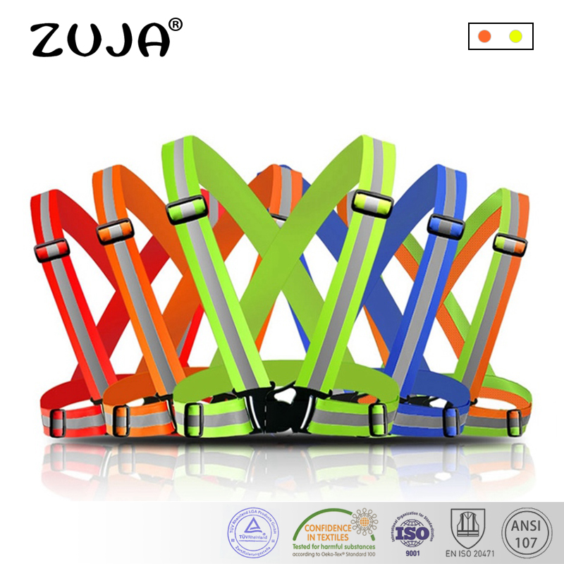 safety vest, reflective belt, high elastic high visibility reflective safety vest belt for bike jog operation band