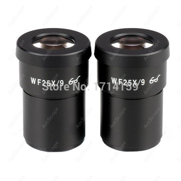 Eyepiece-AmScope Supplies Pair of Extreme Widefield 25X Eyepieces (30mm)  цены