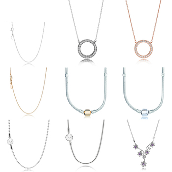 b8c2e5512265 2019 nueva 100% de Plata de Ley 925 collar de cadena de serpiente de plata  encanto de cuentas para las mujeres joyería de moda DIY pulsera al por  mayor de ...