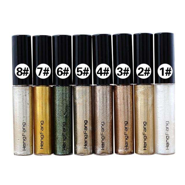 Professional Makeup Eye Liner Glitter Liquid Eyeliner Color Pen Shinning White Gold Green Eye Maquiagem Long Lasting Dl by Acrddk