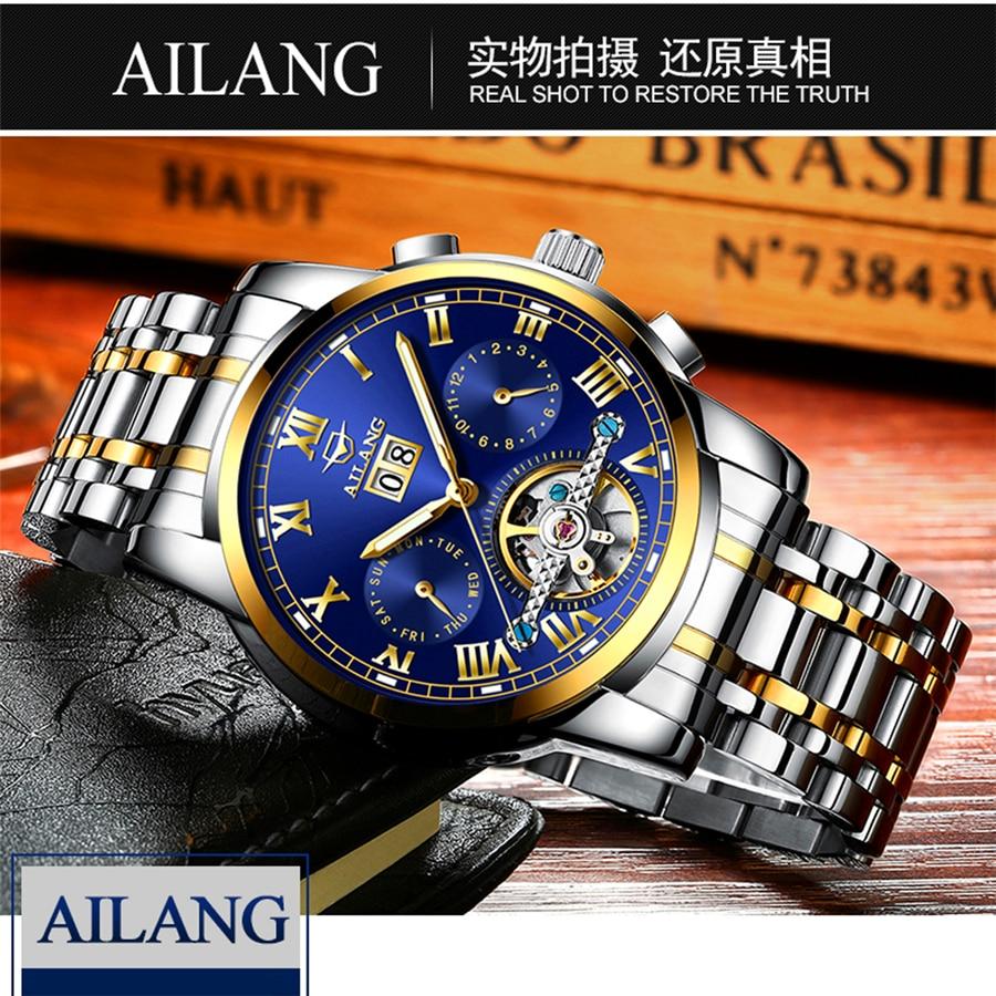 Իրական AILANG ապրանքանիշ տղամարդիկ - Տղամարդկանց ժամացույցներ - Լուսանկար 4