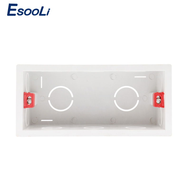 Esooli Super Quality 144mm*67.5mm Internal Mounting Box Back Cassette For 154mm*72mm Wall Light Touch Switch And USB Socket