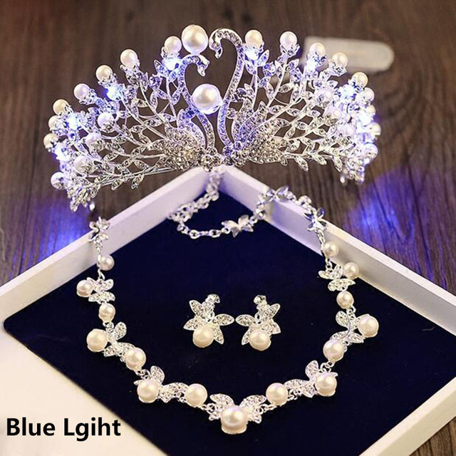 Aliexpresscom Buy Girls Birthday Party Light Tiara Crown Necklace
