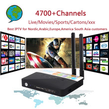 CSA93 Android 7.0 4K TV Box With 4700+ World PRO Arabic Israel Nordic USA Brazil India Europe IPTV Smart Set top Box 3G 32G(China)