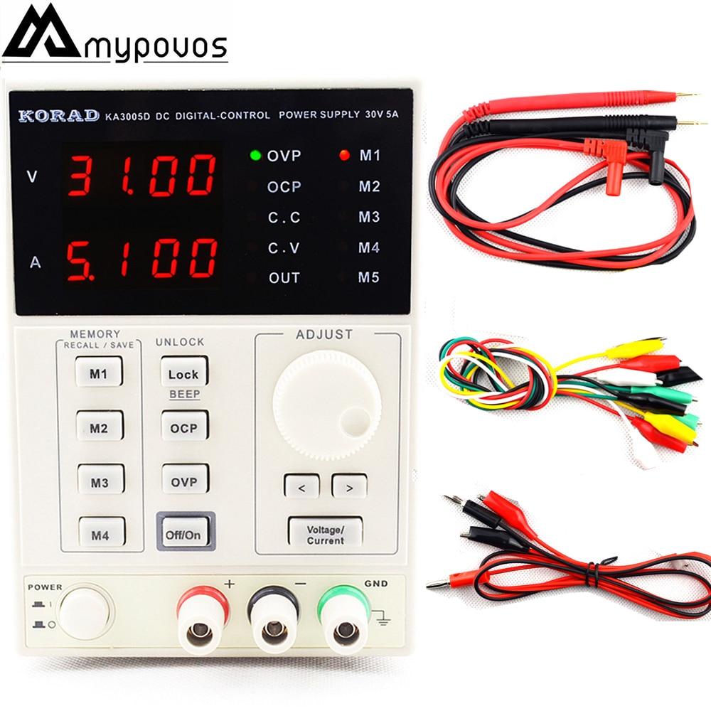KA3005D High Precision Adjustable Digital DC Power Supply 4Ps mA 30V 5A Voltage Regulator Power Supply