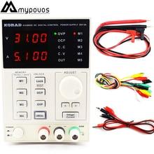 KA3005D высокая точность регулируемый Цифровой DC Питание 4 шт. mA 30 В/5A Напряжение регулятор Питание Регулируемый Питание