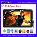 DHL Бесплатная Доставка 50 шт./лот 9 дюймов AllWinner A33 Bluetooth Quad Core Wifi 512 МБ 8 ГБ android 4.4.2 Tablet ПК
