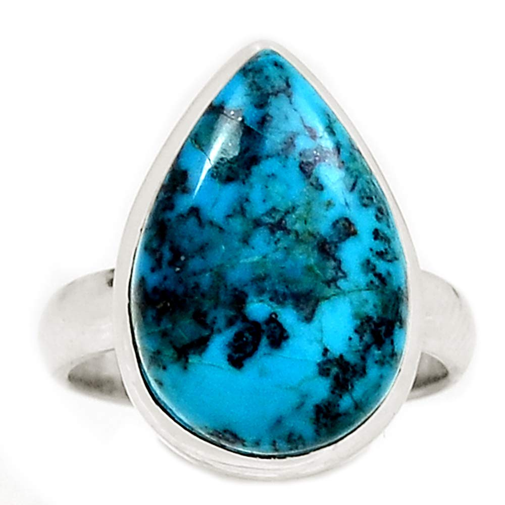Logical Niaozaifei Yunzaikan Genuine Chrysocolla Peru Ring 925 Sterling Silver,usa Size :6.5, Mhbar3946